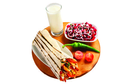 Combo with chicken shawarma